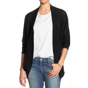 Gap black open front cocoon sweater M/L